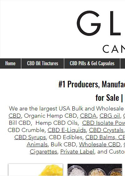 Poorly Optimized CBD Sales Website